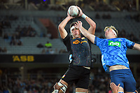 Chiefs' Josh Lord takes lineout ball during the Super Rugby Aotearoa match between the Blues and Chiefs at Eden Park in Auckland, New Zealand on Saturday, 1 May 2021. Photo: Dave Lintott / lintottphoto.co.nz