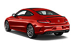 Car pictures of rear three quarter view of 2017 Mercedes Benz C-Class AMG-C43 2 Door Coupe Angular Rear