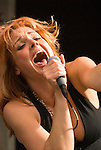 Storm Large singer, performing on stage