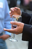 Montreal (Qc) CANADA -file -<br /> <br /> A man hold a glass of red wine <br /> <br /> <br /> photo : Pierre Roussel /  Images Distribution