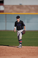 Kyle Chmielewski (5) of John Paul II High School in McKinney, Texas during the Baseball Factory All-America Pre-Season Tournament, powered by Under Armour, on January 13, 2018 at Sloan Park Complex in Mesa, Arizona.  (Mike Janes/Four Seam Images)