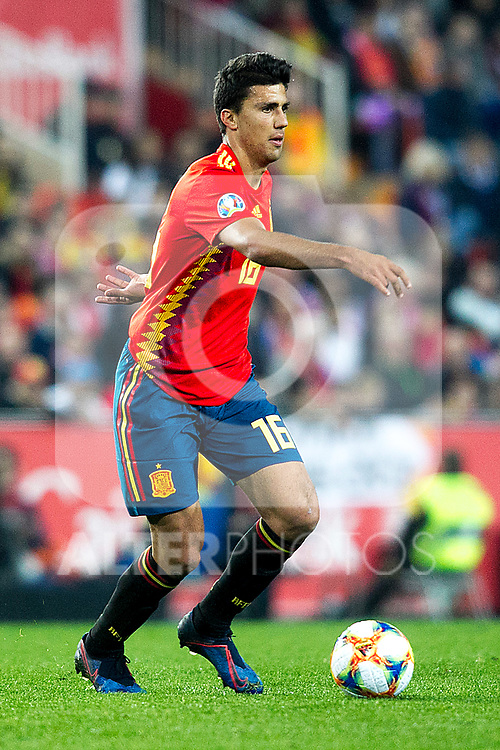 Spain's Rodrigo Hernandez  during the qualifying match for Euro 2020 on 23th March, 2019 in Valencia, Spain. (ALTERPHOTOS/Alconada)