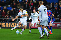 Cameron Carter-Vickers of Swansea City has a shot at goal during the Sky Bet Championship match between Swansea City and Bolton Wanderers at the Liberty Stadium in Swansea, Wales, UK.  Saturday 02 March, 2019