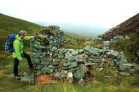 Ruin beneath Leathad an Taobhain above Glen Feshie, Cairngorm National Park
