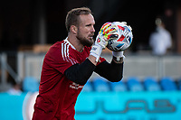 SAN JOSE, CA - MAY 12: Stefan Frei #24 of the Seattle Sounders warms up before a game between San Jose Earthquakes and Seattle Sounders FC at PayPal Park on May 12, 2021 in San Jose, California.