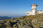 The summit of Mount Washington in the White Mountains, New Hampshire USA