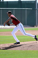 Santos Rodriguez of the Arizona Diamondbacks participates in spring training workouts at Salt River Fields on February 12, 2014 in Scottsdale, Arizona (Bill Mitchell)