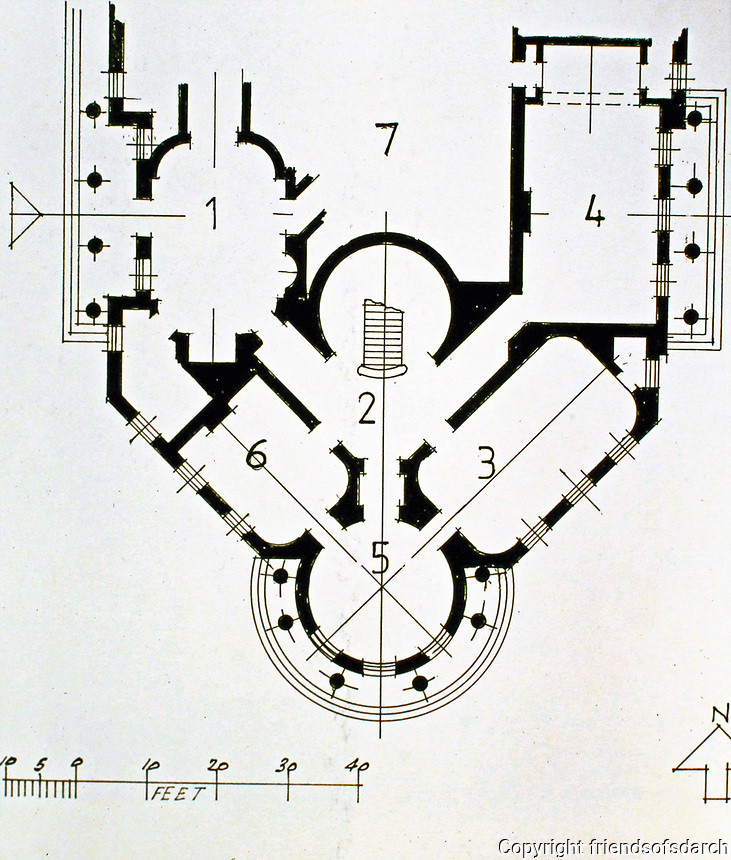 Sundridge Park, Bromley, Kent 1805.<br /> Italian style plan. Stuccoed stately home designed by John Nash.