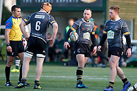 Shane O'Leary of Nottingham Rugby during the Championship Cup Quarter Final match between Ealing Trailfinders and Nottingham Rugby at Castle Bar , West Ealing , England  on 2 February 2019. Photo by Carlton Myrie / PRiME Media Images.
