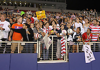 BOCA RATON, FL - DECEMBER 15, 2012: Fans of the USA WNT at the end of an international friendly match against China at FAU Stadium, in Boca Raton, Florida, on Saturday, December 15, 2012. USA won 4-1.