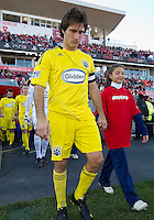 October 16 2010  Columbus Crew midfielder/forward Guillermo Barros Schelotto #7 enters the pitch during a game between the Columbus Crew and Toronto FC at BMO Field in Toronto..The final score was a 2-2 draw.