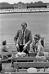 Eton v Harrow annual school cricket match at Lords Cricket Ground St Johns Wood London Uk 1975.