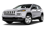 Stock pictures of low aggressive front three quarter view of 2014 JEEP Cherokee Longitude 4 Door SUV Low Aggressive