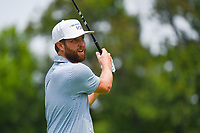 4th July 2021, Detroit, MI, USA;  Chris Kirk (USA) watches his tee shot on 2 during the Rocket Mortgage Classic Rd4 at Detroit Golf Club on July 4,