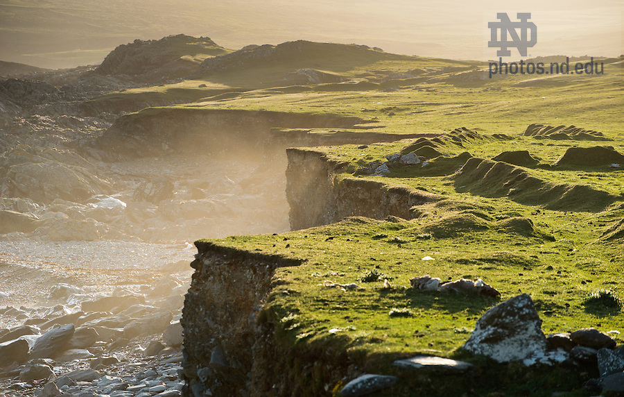 June 10, 2012; Cliffs, Inishark, Ireland..Photo by Matt Cashore/University of Notre Dame