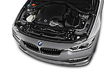 Car stock 2018 Alpina B3 S Touring Base 5 Door Wagon engine high angle detail view