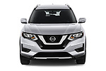 Car photography straight front view of a 2020 Nissan Rogue S 5 Door SUV Front View