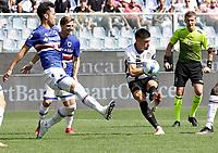 12th September 2021; G.Ferraris Stadium, Genoa, Italy; Serie A football, Sampdoria versus Inter Milan; Joaquin Correa of Inter shoots at goal late in the game