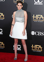 HOLLYWOOD, LOS ANGELES, CA, USA - NOVEMBER 14: Kristen Stewart arrives at the 18th Annual Hollywood Film Awards held at the Hollywood Palladium on November 14, 2014 in Hollywood, Los Angeles, California, United States. (Photo by Xavier Collin/Celebrity Monitor)