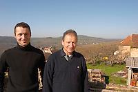 Edmond Monnot and his son owner dom e monnot & f santenay cote de beaune burgundy france