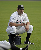 July 28, 2004:  Pete Incaviglia of the Erie Seawolves, Eastern League (AA) affiliate of the Detroit Tigers, during a game at Jerry Uht Park in Erie, PA.  Photo by:  Mike Janes/Four Seam Images