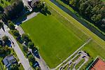 Drohnenaufnahme: Liechtenstein.<br /> Ruggell, Festplatz, Sportplatz.<br /> Foto: ©Paul J. Trummer