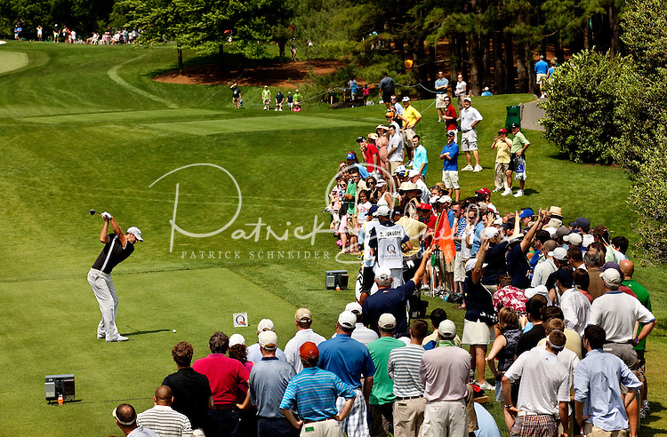Dustin Johnson during the final round of the Quail Hollow Championship at Quail Hollow Country Club on May 2, 2010 in Charlotte, North Carolina.  The event, formerly called the Wachovia Championship, is a top event on the PGA Tour, attracting such popular golf icons as Tiger Woods, Vijay Singh and Bubba Watson. Photo from the final round in the Quail Hollow Championship golf tournament at the Quail Hollow Club in Charlotte, N.C., Sunday , May 03, 2009..
