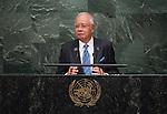 His Excellency Dato' Sri Mohd Najib Tun Abdul Razak, Prime Minister of Malaysia  <br /> General Assembly Seventieth session 9th plenary meeting: High-level plenary meeting of the (6th meeting)