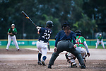 #23 Abe Nozomi of Japan bats during the BFA Women's Baseball Asian Cup match between Pakistan and Japan at Sai Tso Wan Recreation Ground on September 4, 2017 in Hong Kong. Photo by Marcio Rodrigo Machado / Power Sport Images