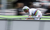 World Champion Tony Martin (GER/Katusha Alpecin) had a crash due to the slippery (rained upon) road surface, but was able to finish his ITT, finishing an anonimous 53th.<br /> <br /> Binckbank Tour 2017 (UCI World Tour)<br /> Stage 2: ITT Voorburg (NL) 9km