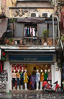 narrow buildings in  Hanoi's Old Town , January 2016.