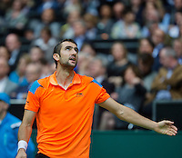 Rotterdam, The Netherlands. 16.02.2014. Marin Cilic(KRO) at the  ABN AMRO World tennis Tournament<br /> Photo:Tennisimages/Henk Koster