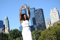 Serena Williams (USA) a Central Park posa con il trofeo vinto agli Us Open di Tennis 2012.New York 10/9/2012.Foto Insidefoto / Virginie Bouyer / Tennismag / Panoramic.ITALY ONLY.