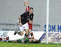 10/01/2009  Copyright Pic: James Stewart.File Name : sct_jspa18_falkirk_v_qots.GRAHAM BARRETT CELEBRATES AFTER HE SCORES FALKIRK'S THIRD.James Stewart Photo Agency 19 Carronlea Drive, Falkirk. FK2 8DN      Vat Reg No. 607 6932 25.Studio      : +44 (0)1324 611191 .Mobile      : +44 (0)7721 416997.E-mail  :  jim@jspa.co.uk.If you require further information then contact Jim Stewart on any of the numbers above.........