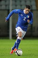 """Mattia De Sciglio.Siena 13/11/2012 Stadio """"Franchi"""".Football Calcio Nazionale U21.Italia v Spagna.Foto Insidefoto Paolo Nucci."""