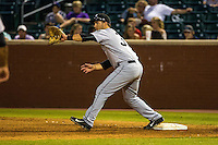 D.J. Peterson (33) of the Jackson Generals fields during a game between the Jackson Generals and Chattanooga Lookouts at AT&T Field on May 8, 2015 in Chattanooga, Tennessee. (Brace Hemmelgarn/Four Seam Images)