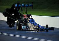 Jun. 19, 2011; Bristol, TN, USA: NHRA top fuel dragster driver Larry Dixon during qualifying for the Thunder Valley Nationals at Bristol Dragway. Mandatory Credit: Mark J. Rebilas-