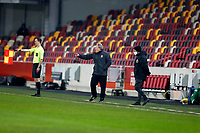 9th January 2021; Brentford Community Stadium, London, England; English FA Cup Football, Brentford FC versus Middlesbrough; Middlesbrough Manager Neil Warnock shouting to his players from the touchline