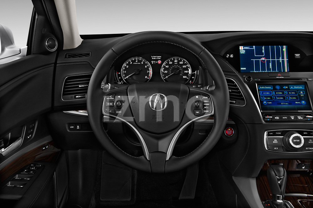 Car pictures of steering wheel view of a 2014-2016 Acura RLX Base 4 Door Sedan