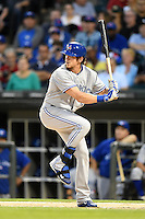Toronto Blue Jays outfielder Colby Rasmus (28) at bat during a game against the Chicago White Sox on August 15, 2014 at U.S. Cellular Field in Chicago, Illinois.  Chicago defeated Toronto 11-5.  (Mike Janes/Four Seam Images)