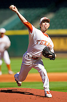 Starting pitcher Ricky Jacquez #10 of the Texas Longhorns in action against the Arkansas Razorbacks at Minute Maid Park on March 4, 2012 in Houston, Texas.  The Razorbacks defeated the Longhorns 7-3.  Brian Westerholt / Four Seam Images