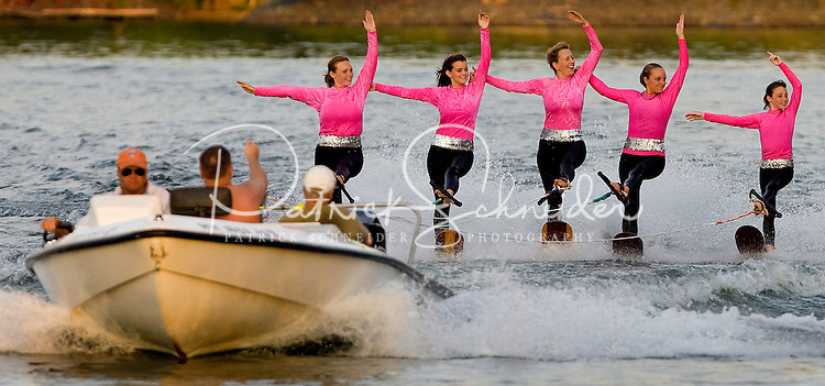 Carolina Show Ski team performing on Lake Wylie in Tega Cay, SC.