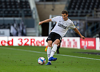 12th September 2020; Pride Park, Derby, East Midlands; English Championship Football, Derby County versus Reading; Craig Forsyth of Derby County passing the ball forward at his feet