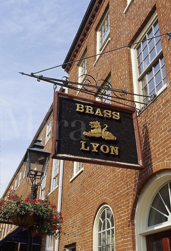 Newburyport, Mass..The Brass Lyon on a quiet side street.