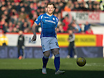 Aberdeen v St Johnstone…27.02.16   SPFL   Pittodrie, Aberdeen<br />Liam Craig<br />Picture by Graeme Hart.<br />Copyright Perthshire Picture Agency<br />Tel: 01738 623350  Mobile: 07990 594431