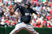 March 4, 2010:  Pitcher CC Sabathia of the New York Yankees during a Spring Training game at Bright House Field in Clearwater, FL.  Photo By Mike Janes/Four Seam Images