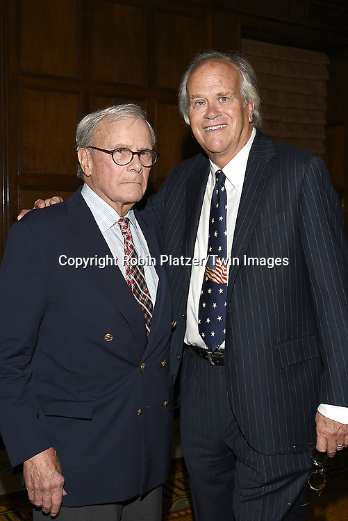 honorees Tom Brokaw and Dick Ebersol attends the Library of American Broadcasting  Annual Giants of Broadcasting Luncheon on October 6, 2016 at Gotham Hall in New York City. <br /> <br /> photo by Robin Platzer/Twin Images<br />  <br /> phone number 212-935-0770