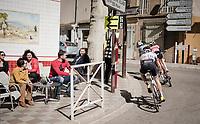 the breakaway hits town<br /> <br /> Stage 6: Peynier to Brignoles (176km)<br /> 77th Paris - Nice 2019 (2.UWT)<br /> <br /> ©kramon