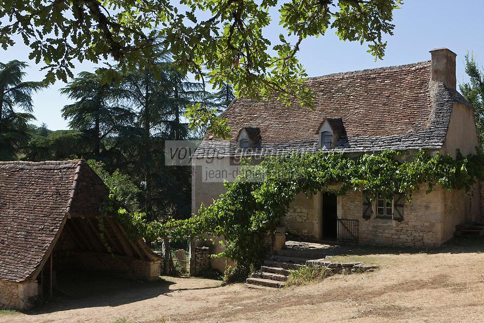 Europe/France/Midi-Pyrénées/46/Lot/Env de Sauliac-sur-Célé/Cuzals: Musée de plein air du Quercy,  la ferme  du 19 éme