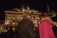 Europe/Allemagne/Bade-Würrtemberg/Forêt Noire/ Gengenbach: Marché de Noël et Calendrier de l'avent sur la façade de l' Hôtel de Ville